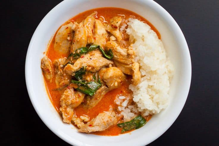 Easy Coconut Panang Curry Chicken!